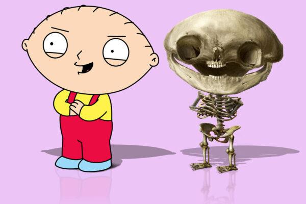 Как бы выглядели скелеты популярных героев мультфильмов