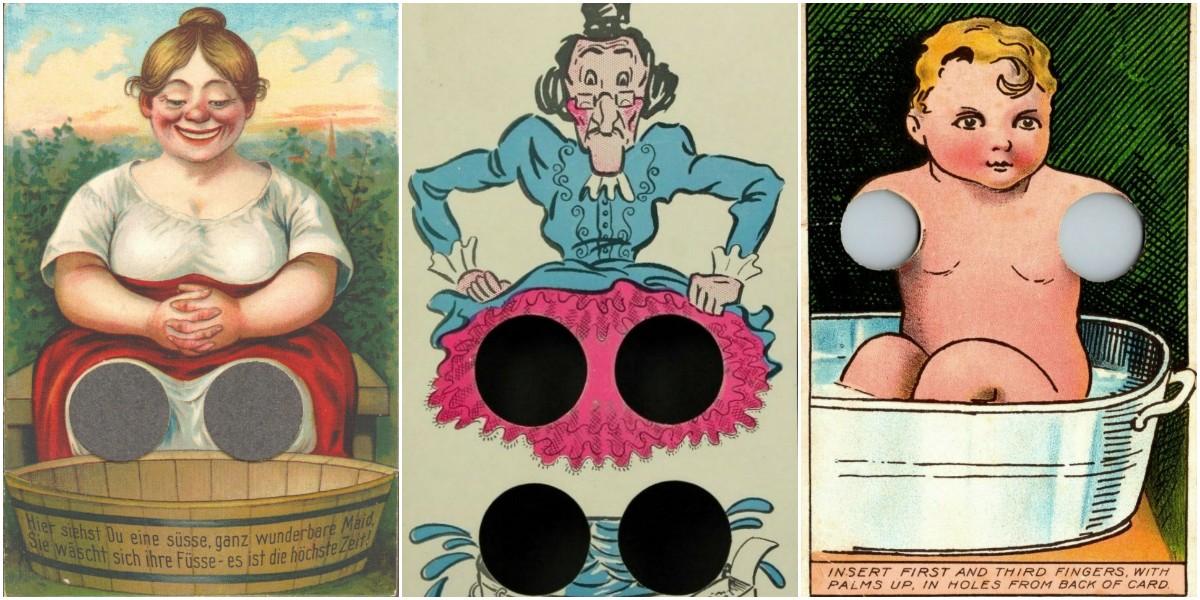 Странные открытки начала ХХ века с отверстиями