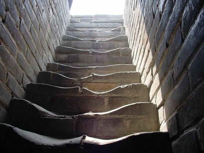 Лестница на Великой Китайской стене