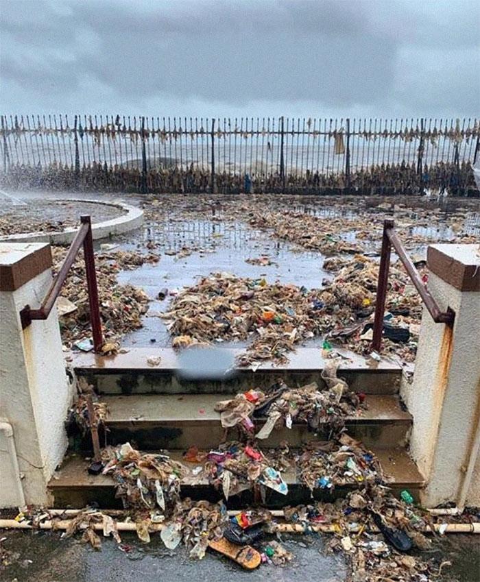 Ежегодный ритуал океана Мумбаи, возвращающий то, что в него было выброшено