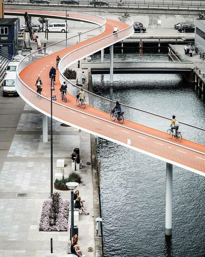Cykelslangen (Велосипедная змея), Копенгаген, Дания