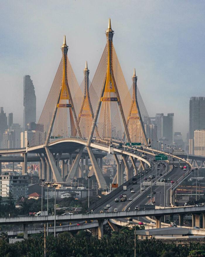 Мост Пумипон, Бангкок, Таиланд