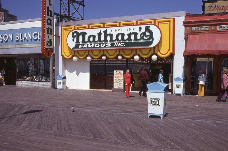 Фотографии променада Атлантик-Сити в 1970-х годах