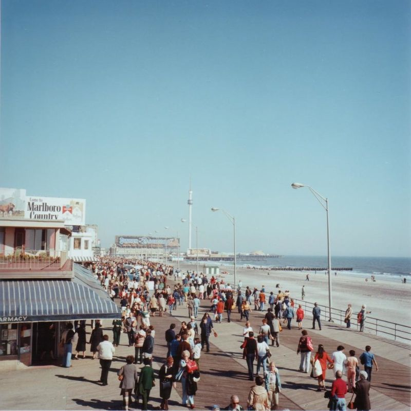 Винтажные фотографии променада Атлантик-Сити в 1970-х годах