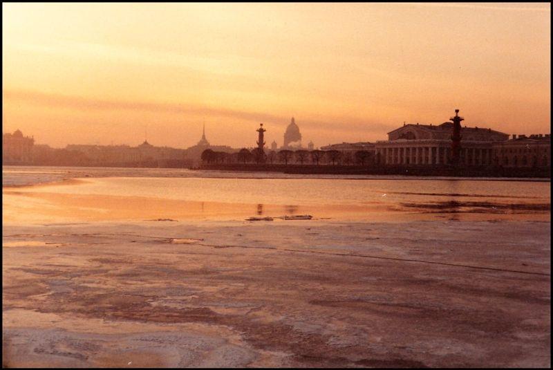 Ленинград, Стрелка Васильевского острова, 1985 год