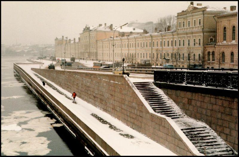 Ленинград, набережная Невы, 1985 год