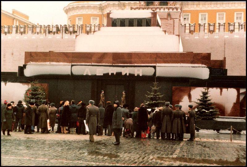 Москва, Мавзолей Ленина на Красной площади, 1985 год