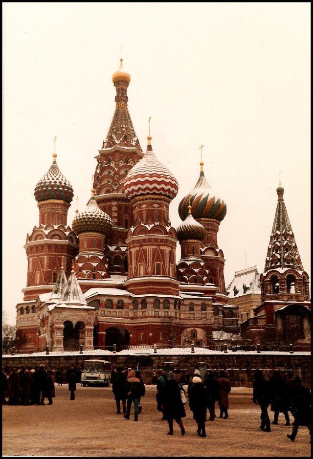 Москва, Храм Василия Блаженного на Красной площади, 1985 год