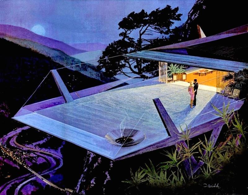 Дома будущего в рекламе Motorola 60-х