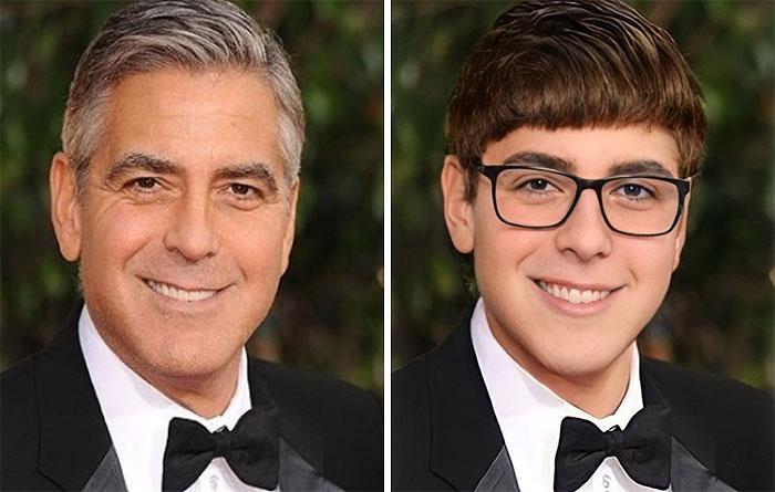 Джордж Клуни сейчас и в подростковом возрасте