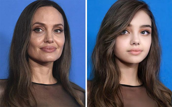 Анджелина Джоли сейчас и в подростковом возрасте