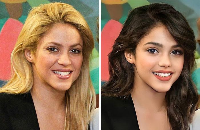 Шакира сейчас и в подростковом возрасте