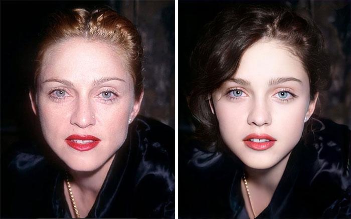 Мадонна сейчас и в подростковом возрасте