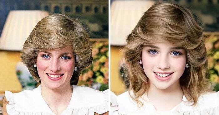 Диана, принцесса Уэльская сейчас и в подростковом возрасте
