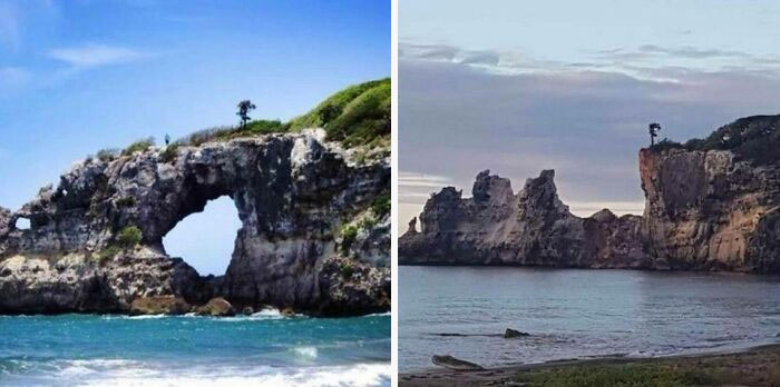 Землетрясение уничтожило чудо природы - арку Пунта-Вентана в Пуэрто-Рико