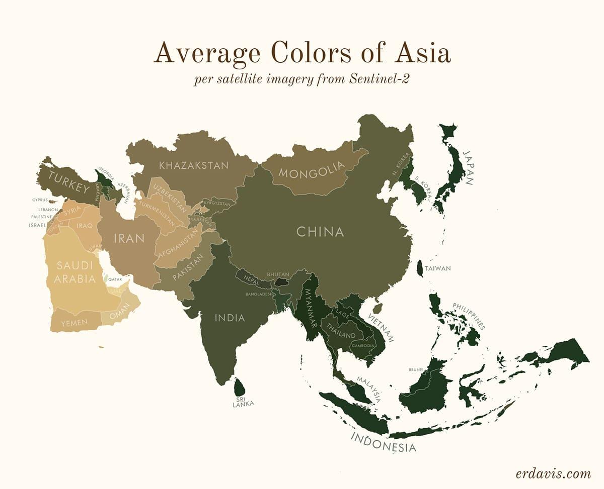 Средние цвета Азии