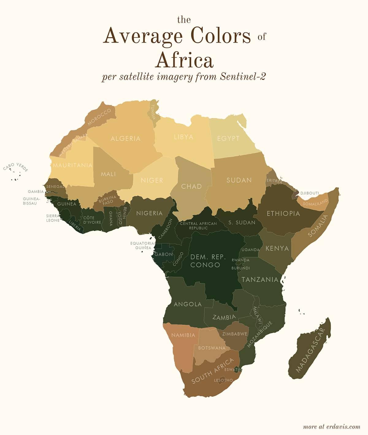 Средние цвета Африки
