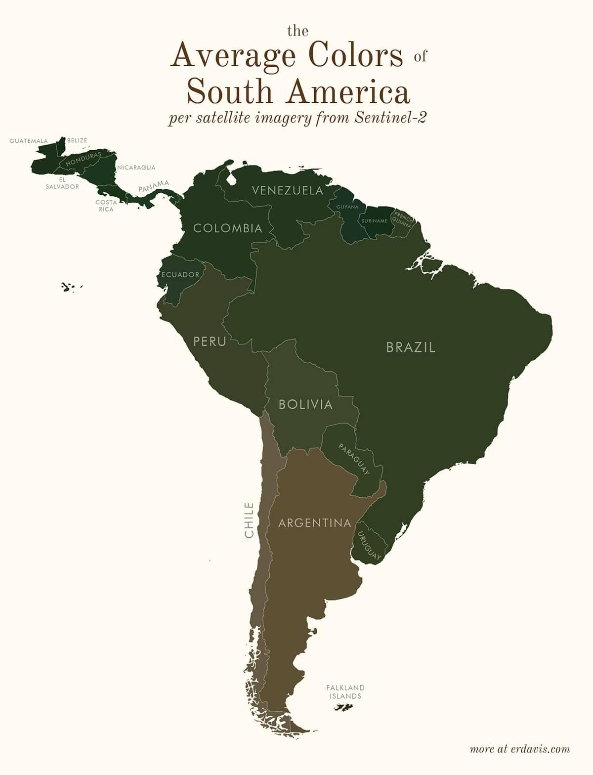Средние цвета Южной Америки