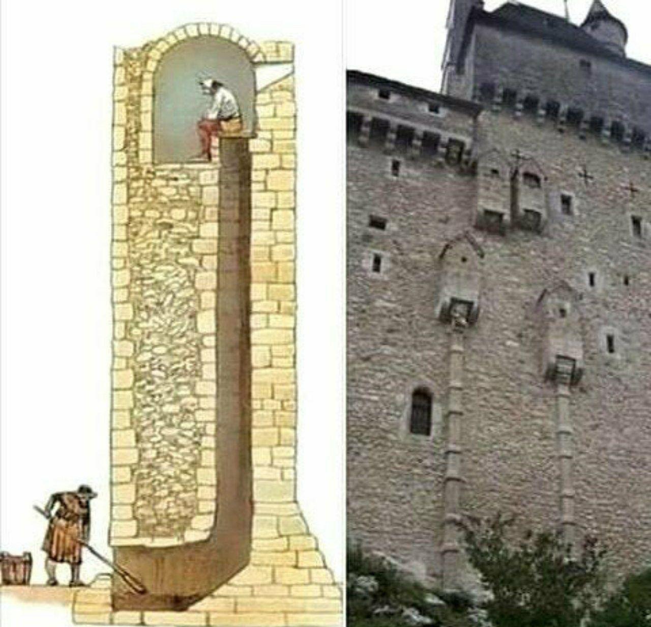 Как работали уборные в замках средневековья