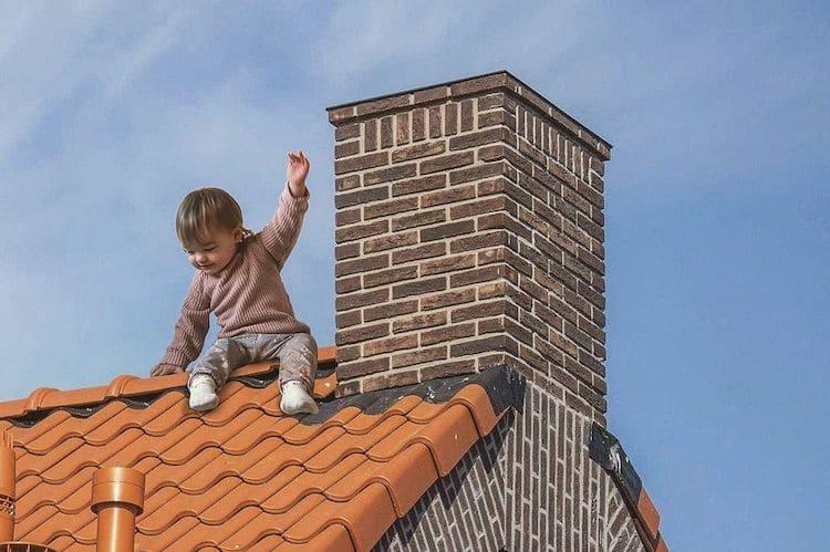 Весёлый папа фотошопит своих детей в «опасных» ситуациях
