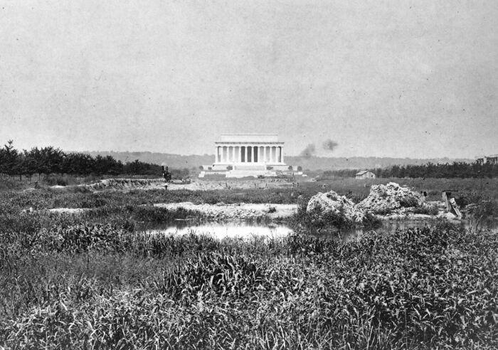 Мемориал Линкольна до появления отражающего бассейна