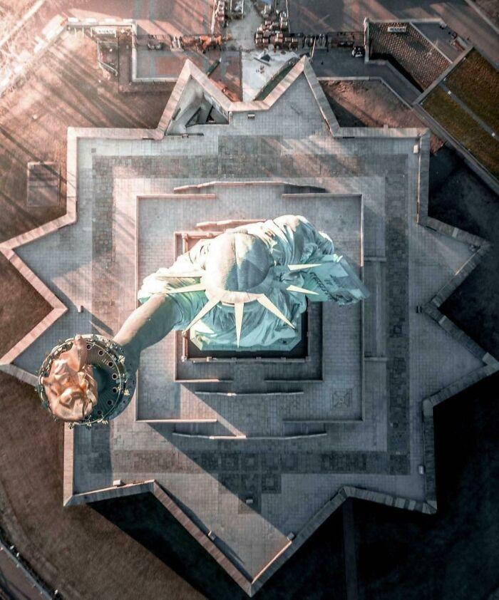 Статуя Свободы сверху