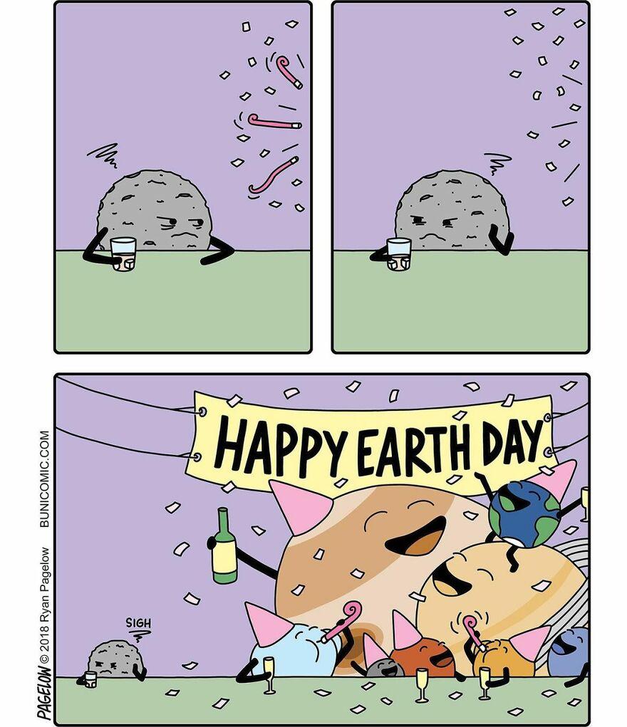 Смешные и грустные одновременно комиксы с изворотливым сюжетом
