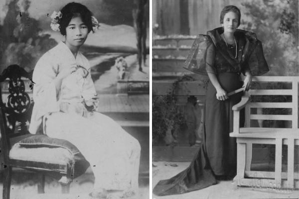 Старые портреты женщин Манилы начала ХХ века