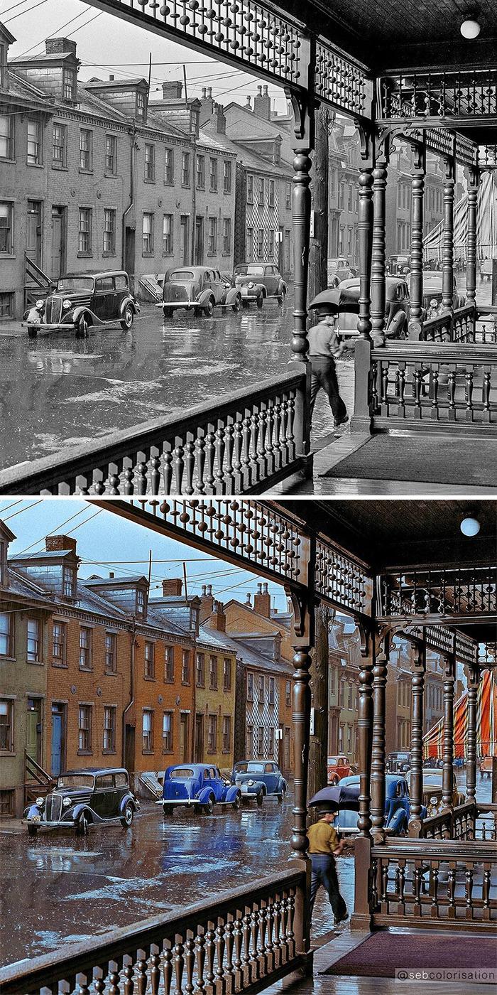Дождливый день в Питтсбурге, июнь 1941 года