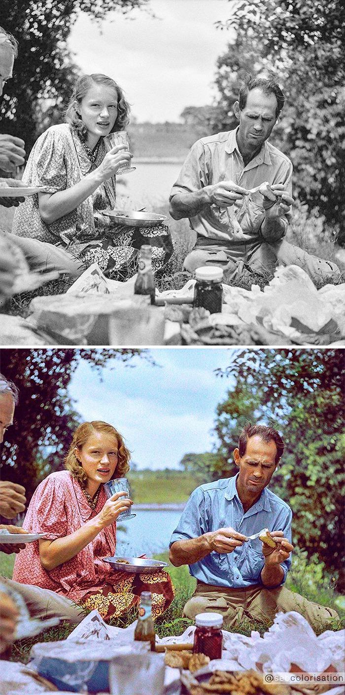 Семейный пикник у реки, 4 июля 1940 года