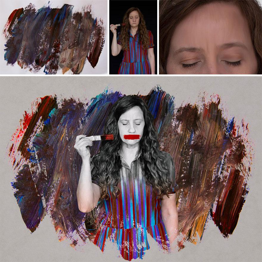 Использование инструмента Smudge Tool для превращения фотографии в картину