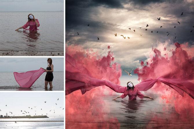 Фотограф показывает, как она использует Photoshop, чтобы сделать фантастические изображения