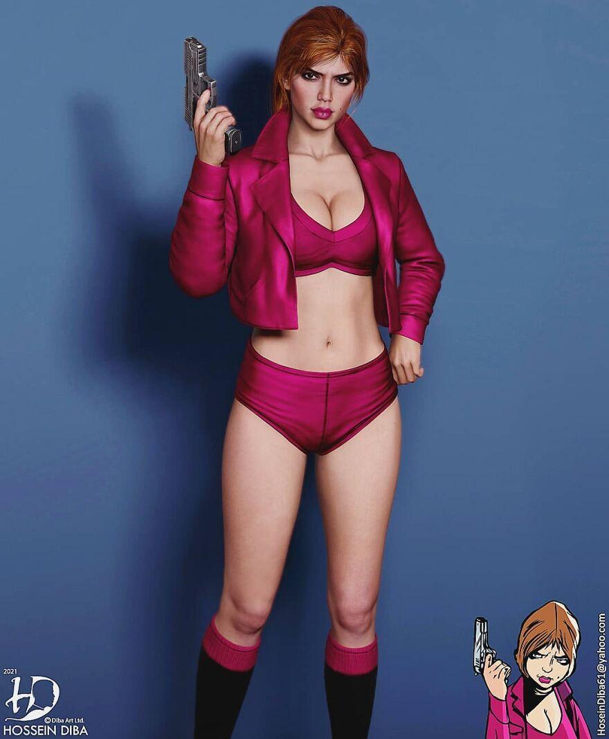 Девушка с обложки из «GTA III»