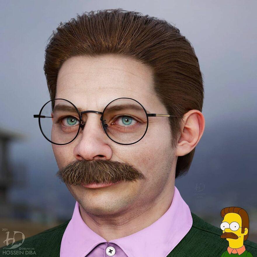 Нед Фландерс из «Симпсонов»