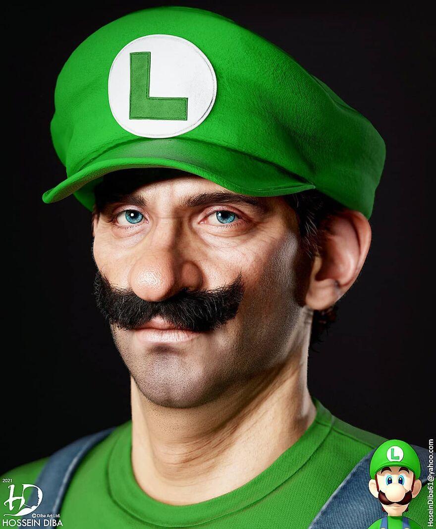 Луиджи из «Супер Марио»