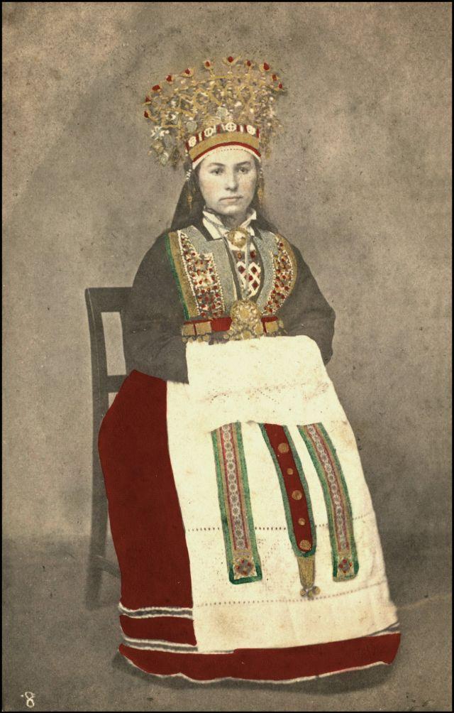 Норвежский костюм. Невеста из Хардангера, около 1870-х годов