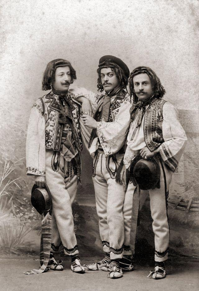 Румынские костюмы, около 1870-х годов