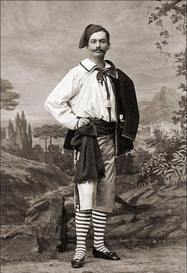 Австрийский мужчина в традиционном костюме, Вена, около 1880-х годов