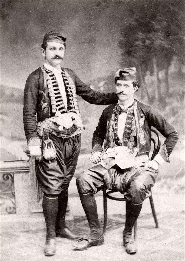 Традиционная черногорская одежда, около 1890-х годов