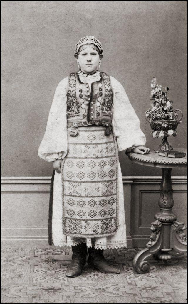 Румынский костюм, 1868 год