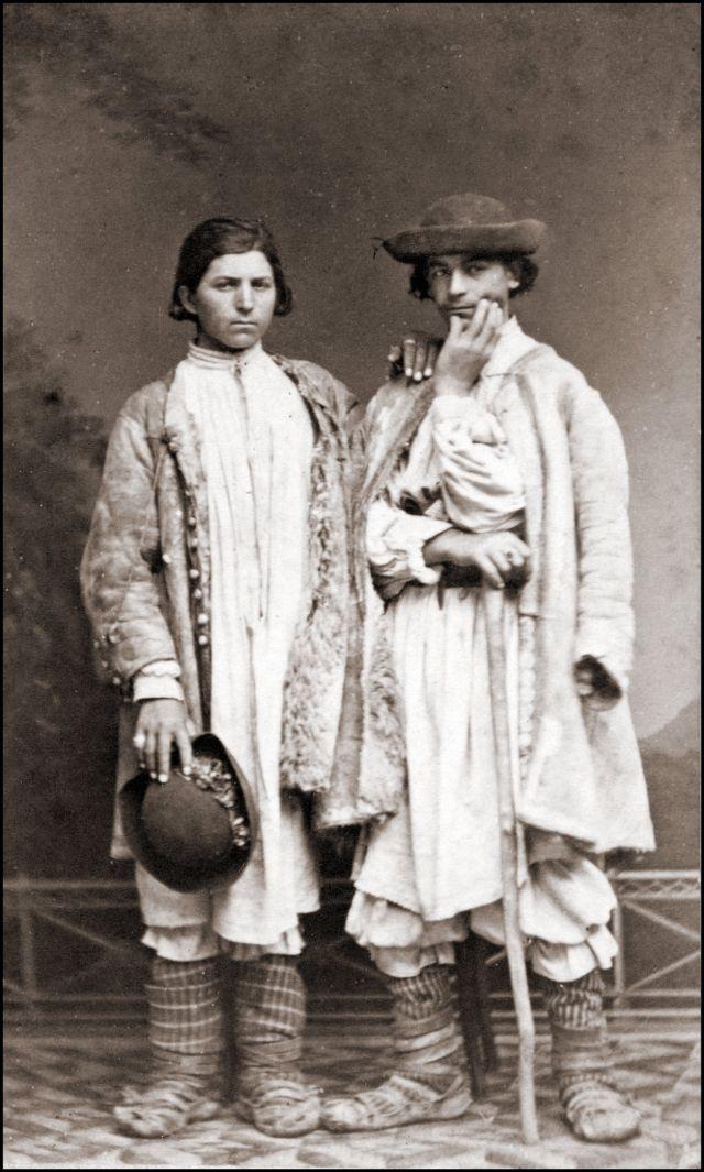 Румынские костюмы. Румыны из Баната, Тимишоара, 1868 год