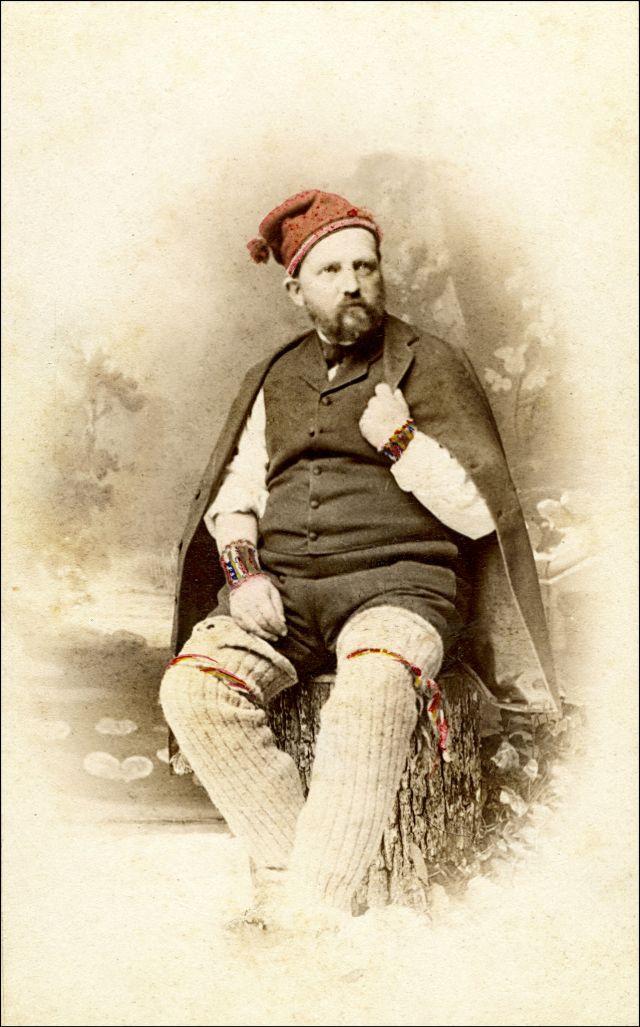 Мужчина в традиционном костюме, вероятно, Геттинген, Германия, около 1870-х годов