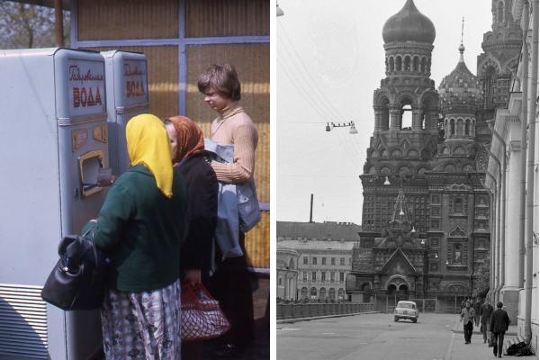 Фотографии уличных пейзажей Советского Союза начала 1970-х годов