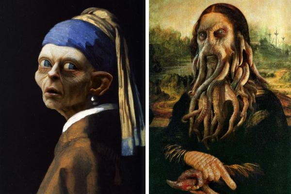Художники комбинируют классические картины с персонажами поп-культуры в честь Хэллоуина