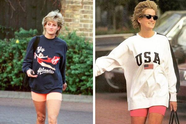 Фотографии принцессы Дианы в велосипедных шортах в середине 1990-х годов